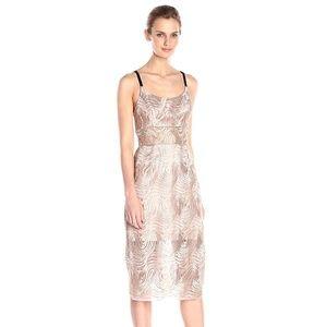 Rose Gold Printed Sheath Dress